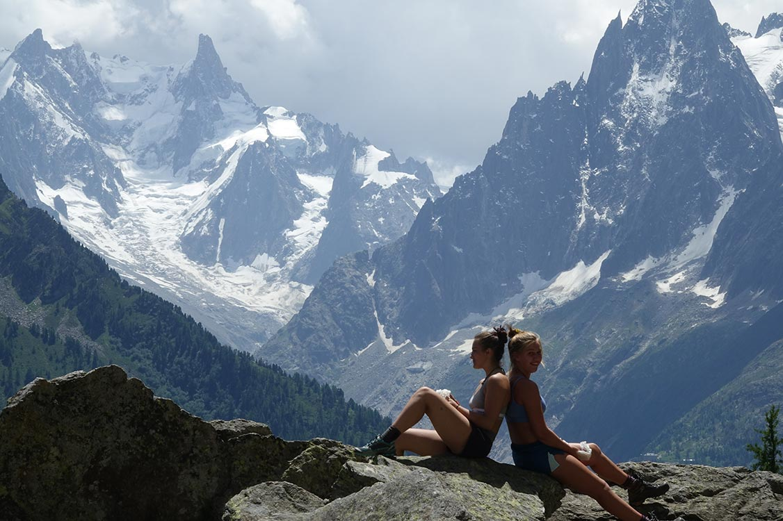 Mont Blanc cliffside